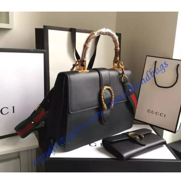 Gucci Dionysus Leather Top Handle Bag GU421999-Black