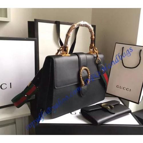 da3d88063ac2 Gucci Dionysus Leather Top Handle Bag GU421999-Black – LuxTime DFO ...