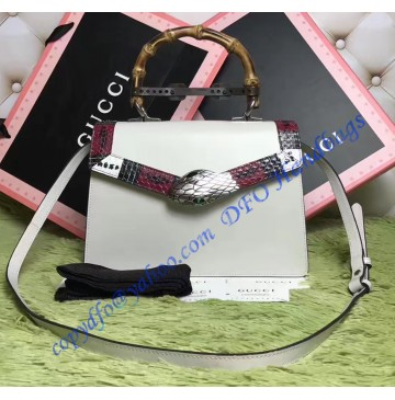 Gucci Small Lilith Leather Top Handle Bag White