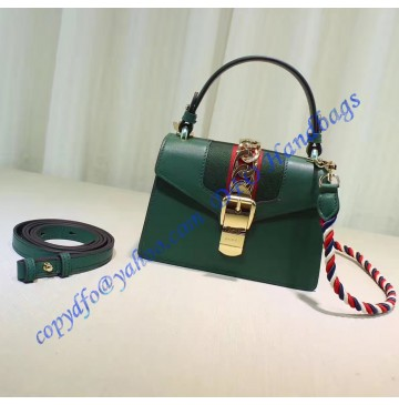Gucci Sylvie Green Leather Mini Bag