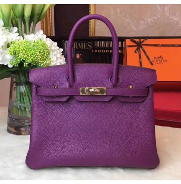 Hermes Birkin Bag 35cm in Anemone Togo Leather Golden Hardware