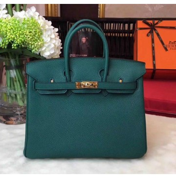 Hermes Birkin Bag 35cm in Vert Foret Togo Leather Golden Hardware