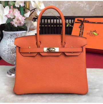 Hermes Birkin Bag 35cm in Capucine Togo Leather Golden Hardware
