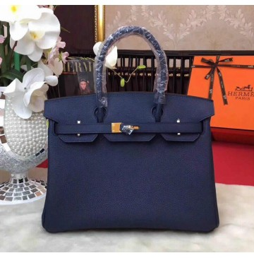 Hermes Birkin Bag 35cm in Comalt Togo Leather Golden Hardware