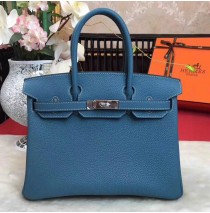 35cm in Blue Jean Togo leather Palladium Hardware