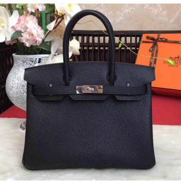 Hermes Birkin Bag 35cm in Black Togo leather Palladium Hardware
