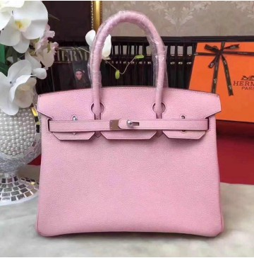 Hermes Birkin Bag 35cm in Rose Sakura Togo leather Palladium Hardware