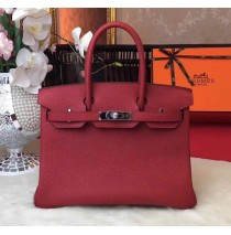 35cm in Rouge Garance Togo leather Palladium Hardware