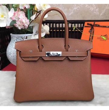 Hermes Birkin Bag 35cm in Terre Togo leather Palladium Hardware