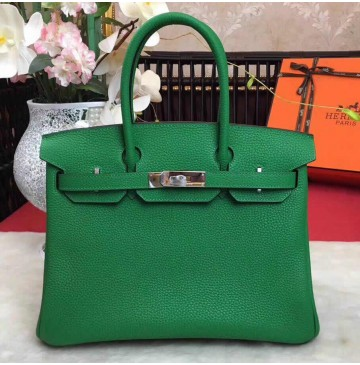 Hermes Birkin Bag 35cm in Bambou Togo leather Palladium Hardware
