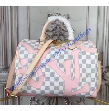Louis Vuitton Damier Azur Speedy Bandouliere 30 N41052