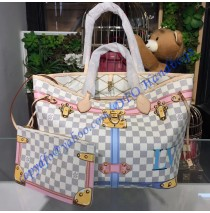 Trompe L'oeil Screen Damier Azur Neverfull MM N41065