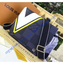 Louis Vuitton Damier Cobalt District PM Yellow