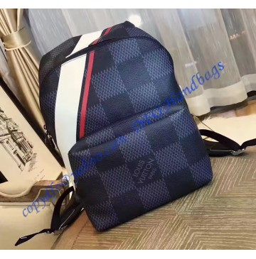 Louis Vuitton Damier Cobalt Apollo Backpack Red