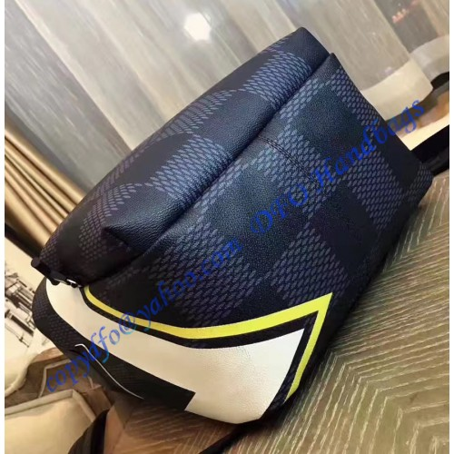 louis vuitton damier cobalt apollo backpack yellow n44005