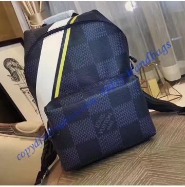 Louis Vuitton Damier Cobalt Apollo Backpack Yellow N44005