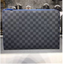 Louis Vuitton Damier Graphite Pochette Jour GM with Blue Lining N64032
