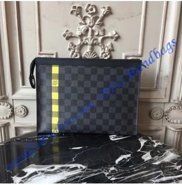 Louis Vuitton Damier Graphite Stripe LG - D19 Pochette Voyage MM Helios N60107