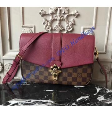 Louis Vuitton Damier Ebene Clapton Rose Red N42442