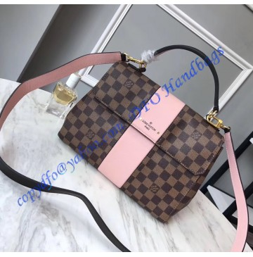 Louis Vuitton Damier Ebene Bond Street with pink leather