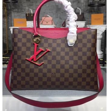 Louis Vuitton Damier Ebene LV Riverside Lie de Vin N40052