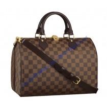 Louis Vuitton Damier Ebene Speedy 30cm with shoulder strap bandouliere N41183