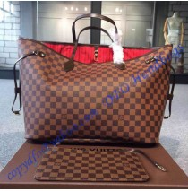 Louis Vuitton Damier Ebene Neverfull GM N41357