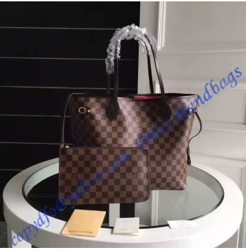 Louis Vuitton Damier Ebene Neverfull MM N41358