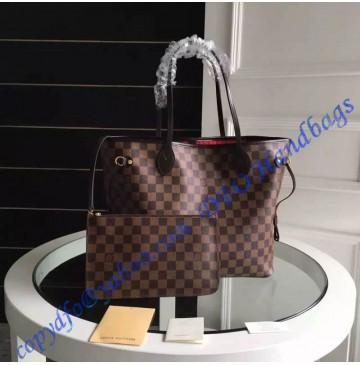 Louis Vuitton Damier Ebene Neverfull MM N41358