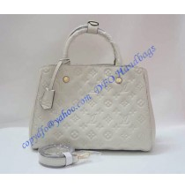 Louis Vuitton Monogram Empreinte Montaigne MM M41048 beige