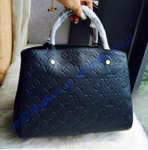 Louis Vuitton Monogram Empreinte Montaigne MM M41048 black