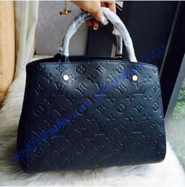 Louis Vuitton Monogram Empreinte Montaigne MM M41048 black