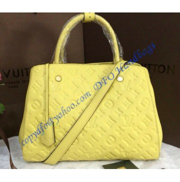 Louis Vuitton Monogram Empreinte Montaigne MM M41048 lemon yellow