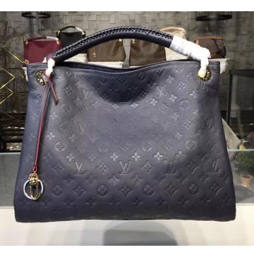 Louis Vuitton Monogram Empreinte Leather Artsy MM Navy Blue
