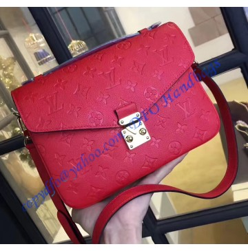 Louis Vuitton Monogram Empreinte Pochette Metis Red