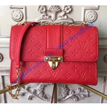 Louis Vuitton Monogram Empreinte Leather Saint Sulpice PM Cherry M43393