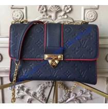 Louis Vuitton Monogram Empreinte Leather Saint Sulpice PM Marine Rouge M43394