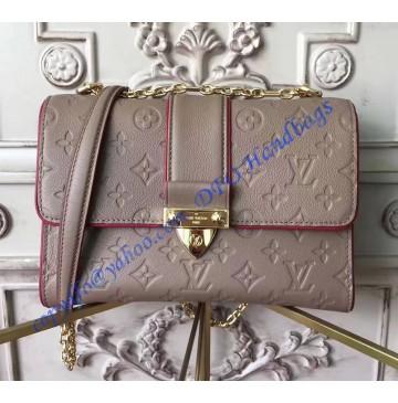 Louis Vuitton Monogram Empreinte Leather Saint Sulpice PM Taupe Glace M43395