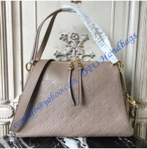 Louis Vuitton Monogram Empreinte Leather Ponthieu PM Light Gray