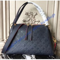 Louis Vuitton Monogram Empreinte Leather Ponthieu PM Navy Blue