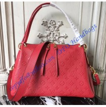 Louis Vuitton Monogram Empreinte Leather Ponthieu PM Red