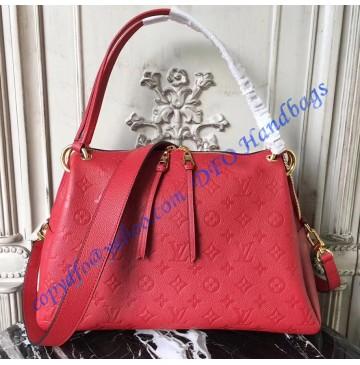 Louis Vuitton Monogram Empreinte Leather Ponthieu PM Red