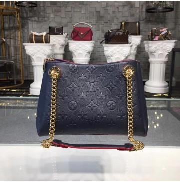 Louis Vuitton Monogram Empreinte Leather Surene BB Marine Rouge M43750