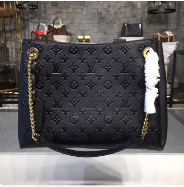 Louis Vuitton Monogram Empreinte Surene MM Noir M43758