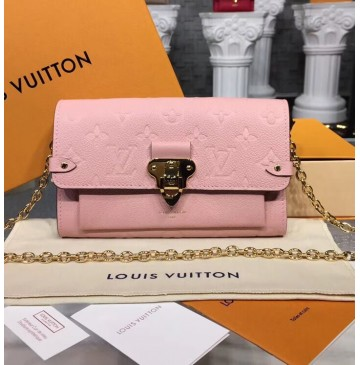 Louis Vuitton Monogram Empreinte Vavin Chain Wallet Pink M63399