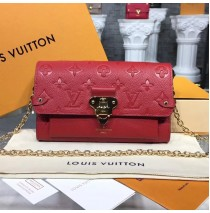 Louis Vuitton Monogram Empreinte Vavin Chain Wallet Red M63399