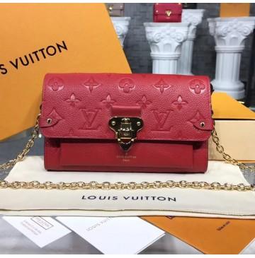 Louis Vuitton Monogram Empreinte Vavin Chain Wallet Red M63399