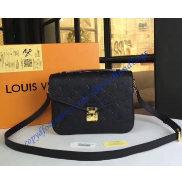 Louis Vuitton Monogram Empreinte Pochette Metis Black M41487