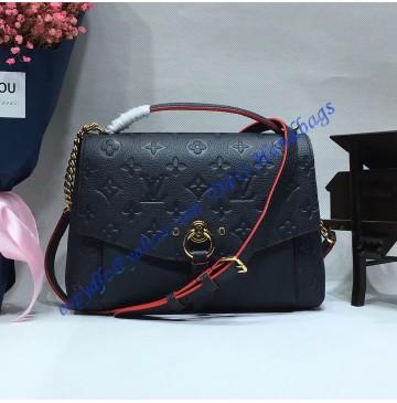 Louis Vuitton Monogram Empreinte Blanche BB Marine Rouge M43781