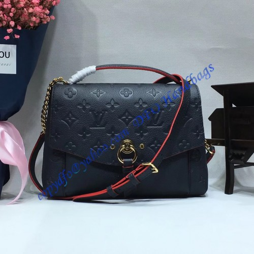 43f3bb009c83 Louis Vuitton Monogram Empreinte Blanche BB Marine Rouge M43781. Loading  zoom